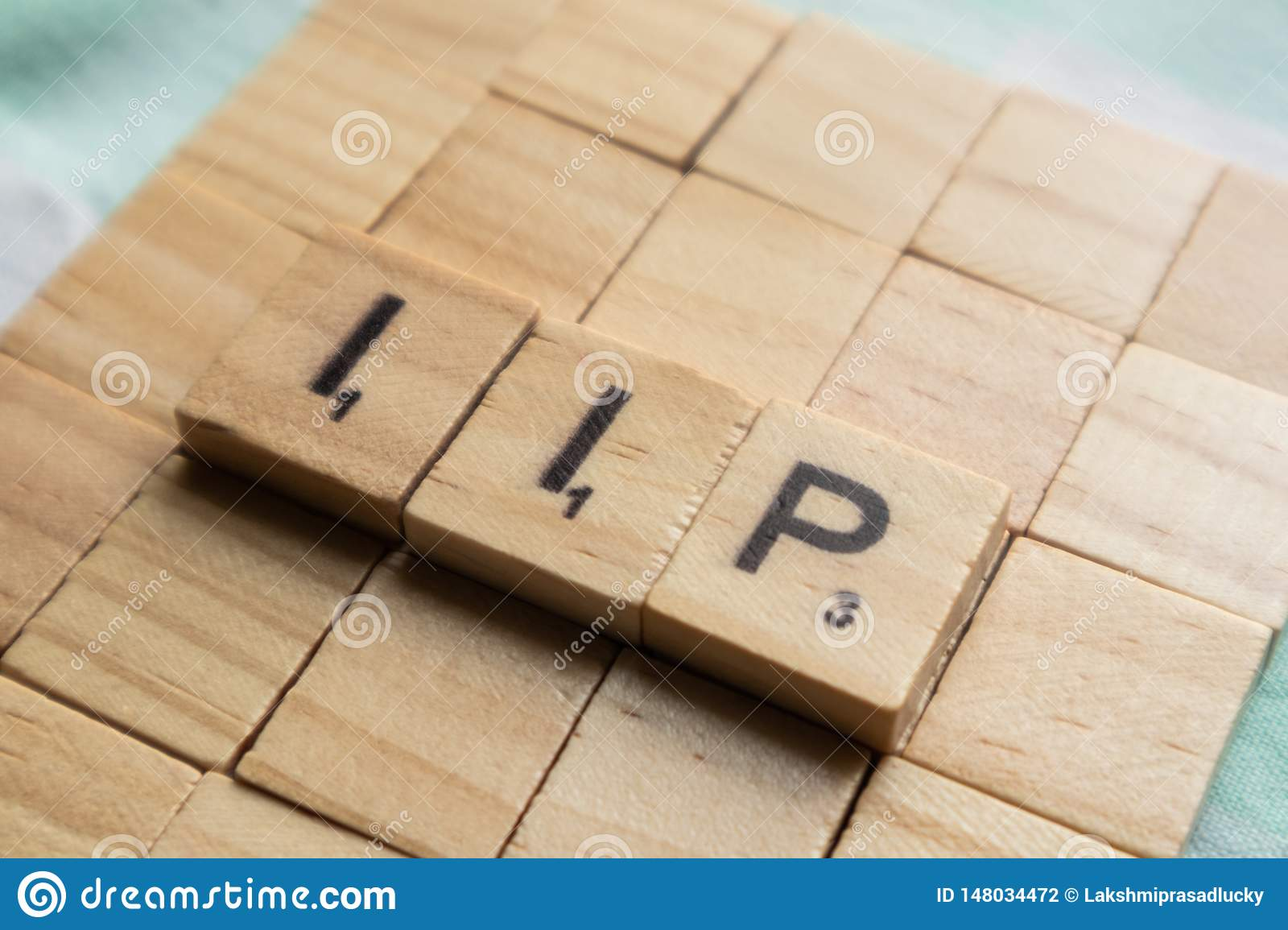 Maski, India- 18,may 2019 : IIP or Index of Industrial Production in wooden bloack letters