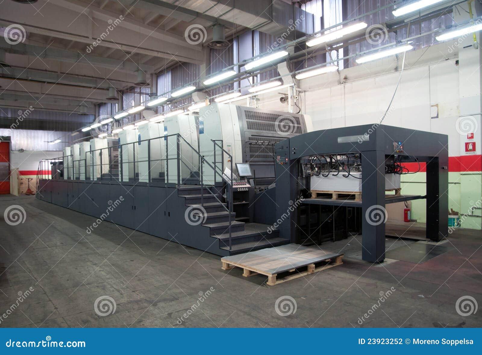 Maskin förskjuten pressprinting