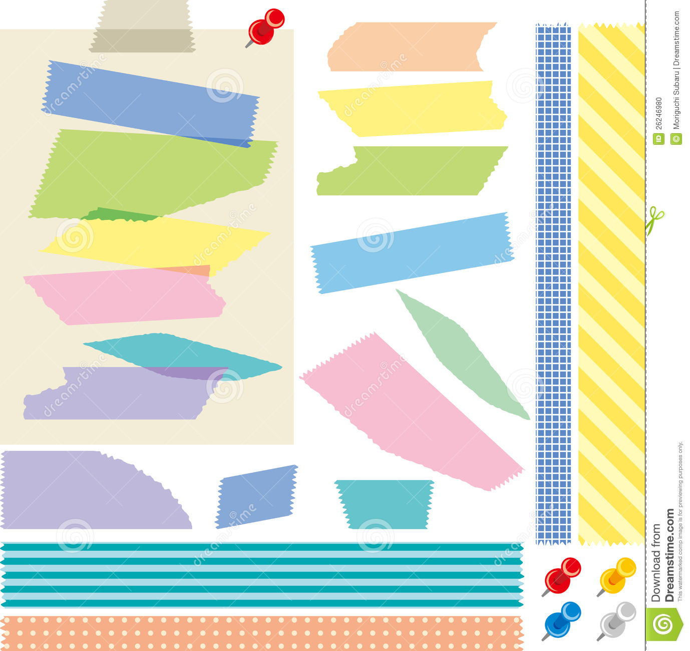 Scotch Tape Vector masking tape stock illustrations, vectors ...