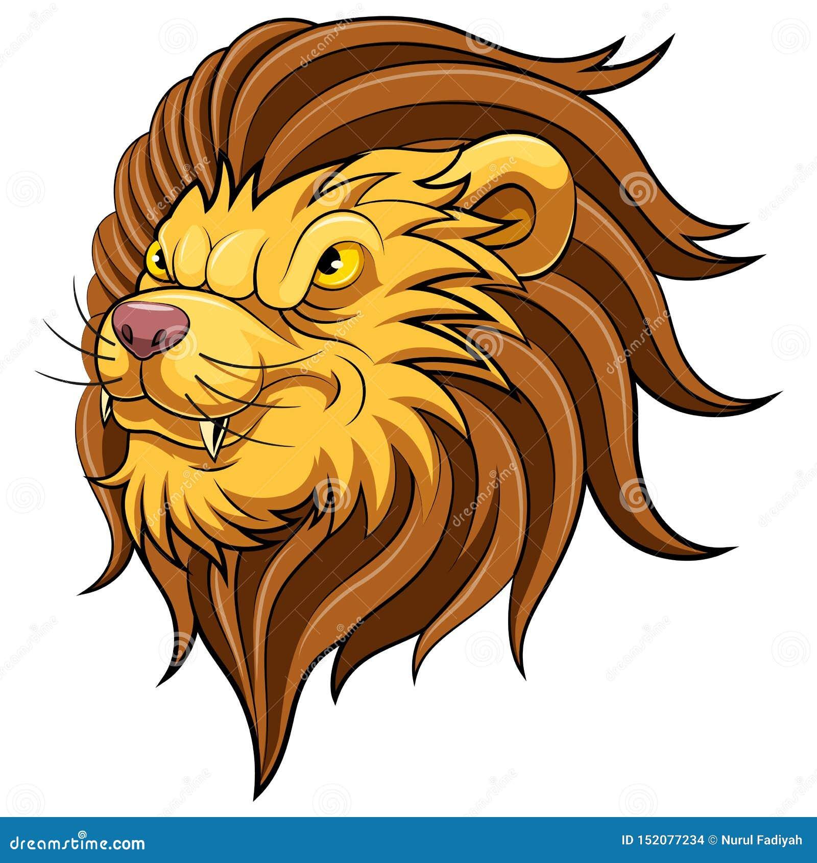 Maskothuvud av ett lejon