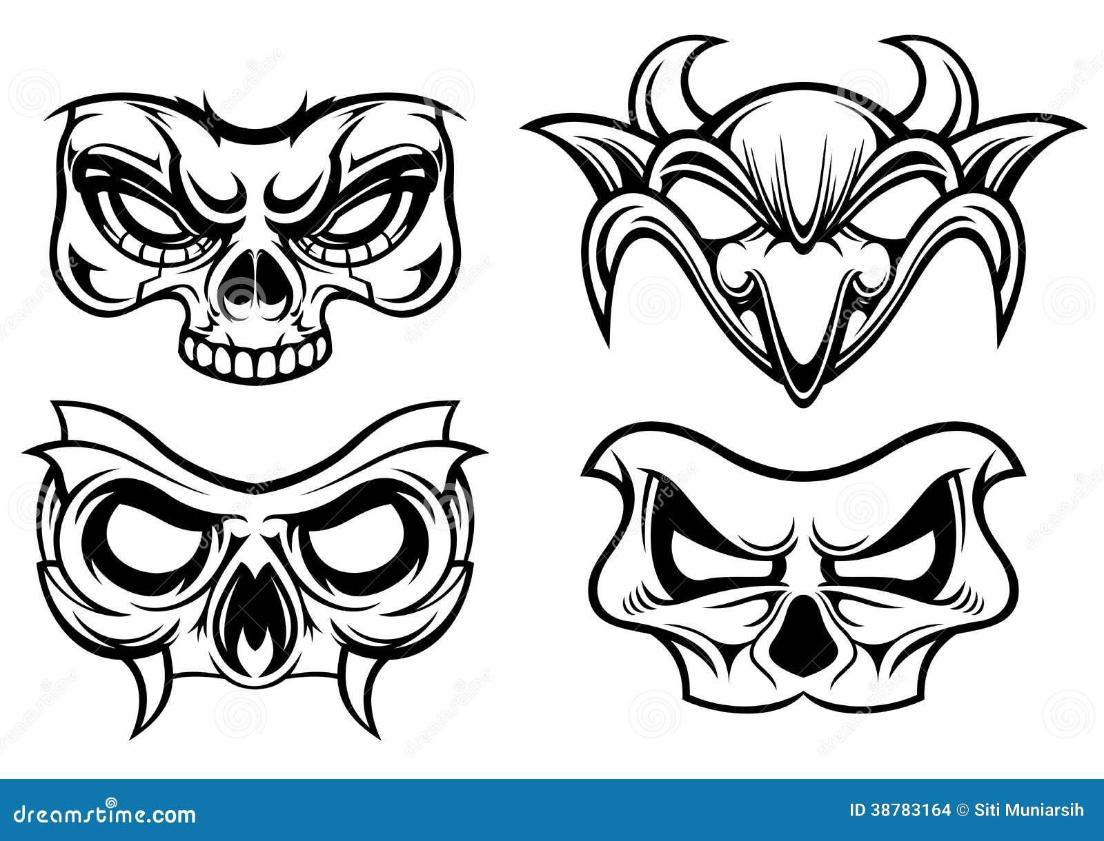 Masks Of Horror Stock Vector - Image: 38783164