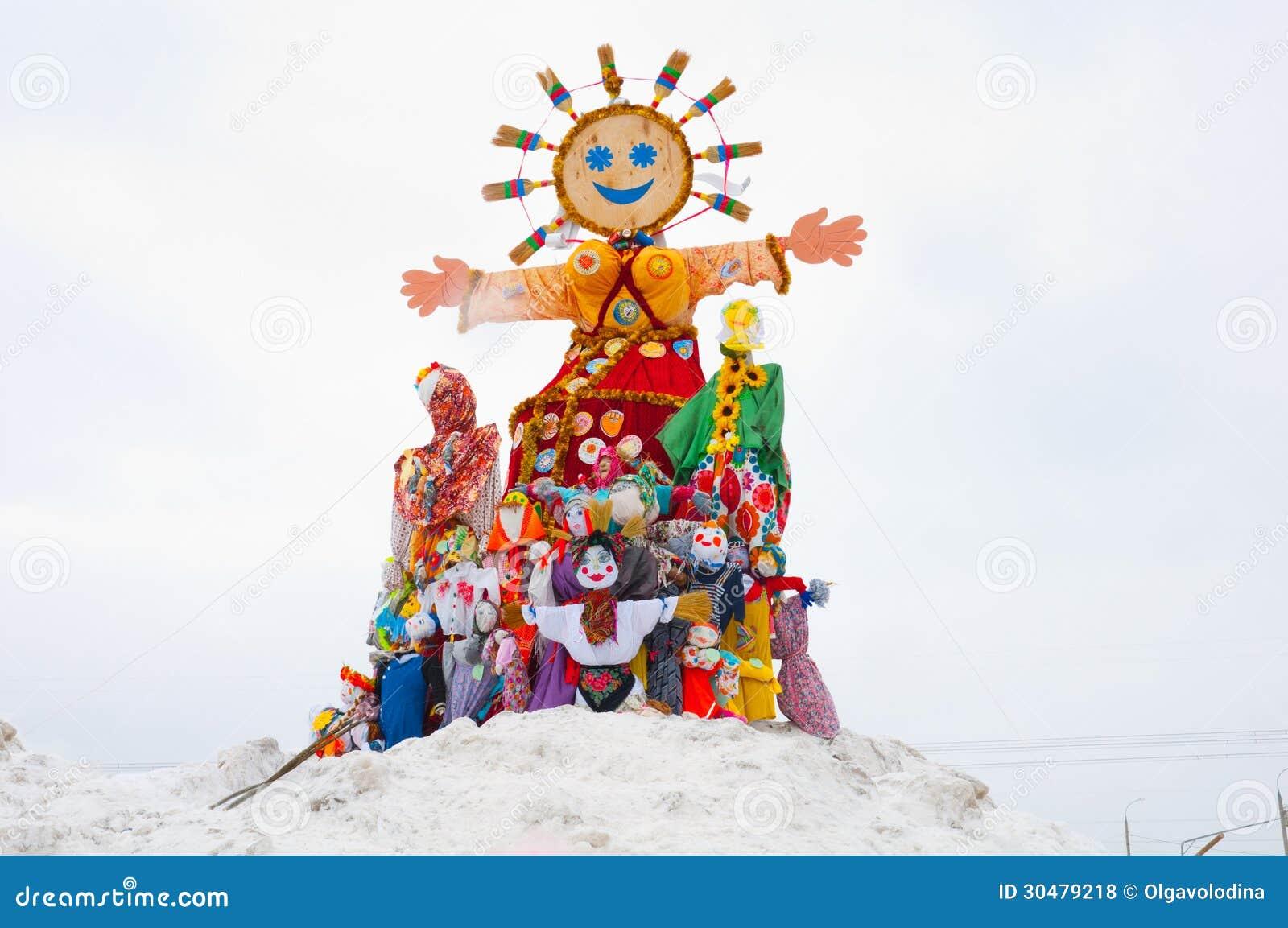 Maslenitsa - Russian Religious Holiday Stock Photo - Image of dolls ...