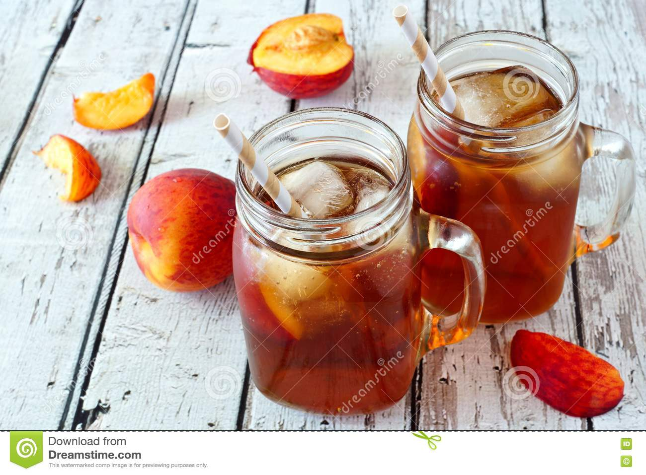 how to make homemade peach ice tea
