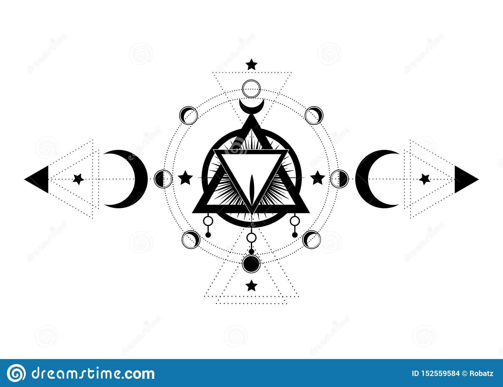 Masonic Symbol The Sacred Vagina Inside Triple Moon Pagan Wicca Moon Goddess Icon Vector Illustration Tattoo Astrology Alchemy Stock Vector Illustration Of Moon Crescent 152559584
