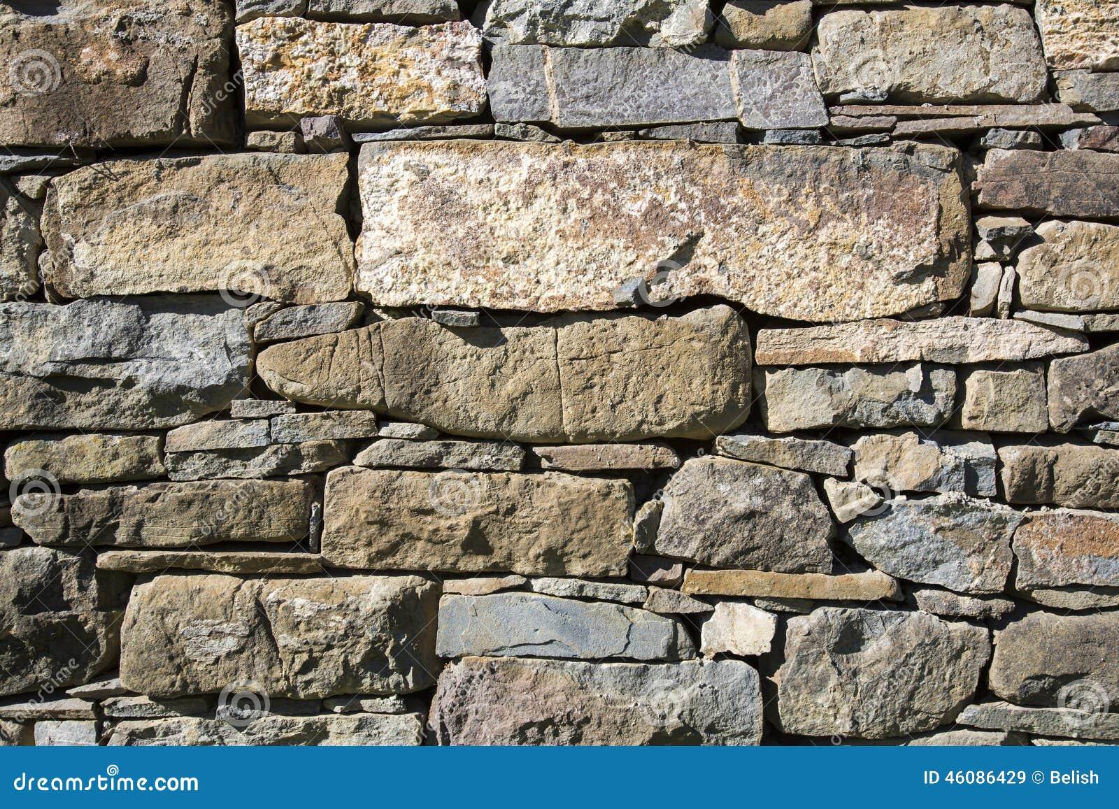 Masonry Stone Wall Stock Photo Image 46086429