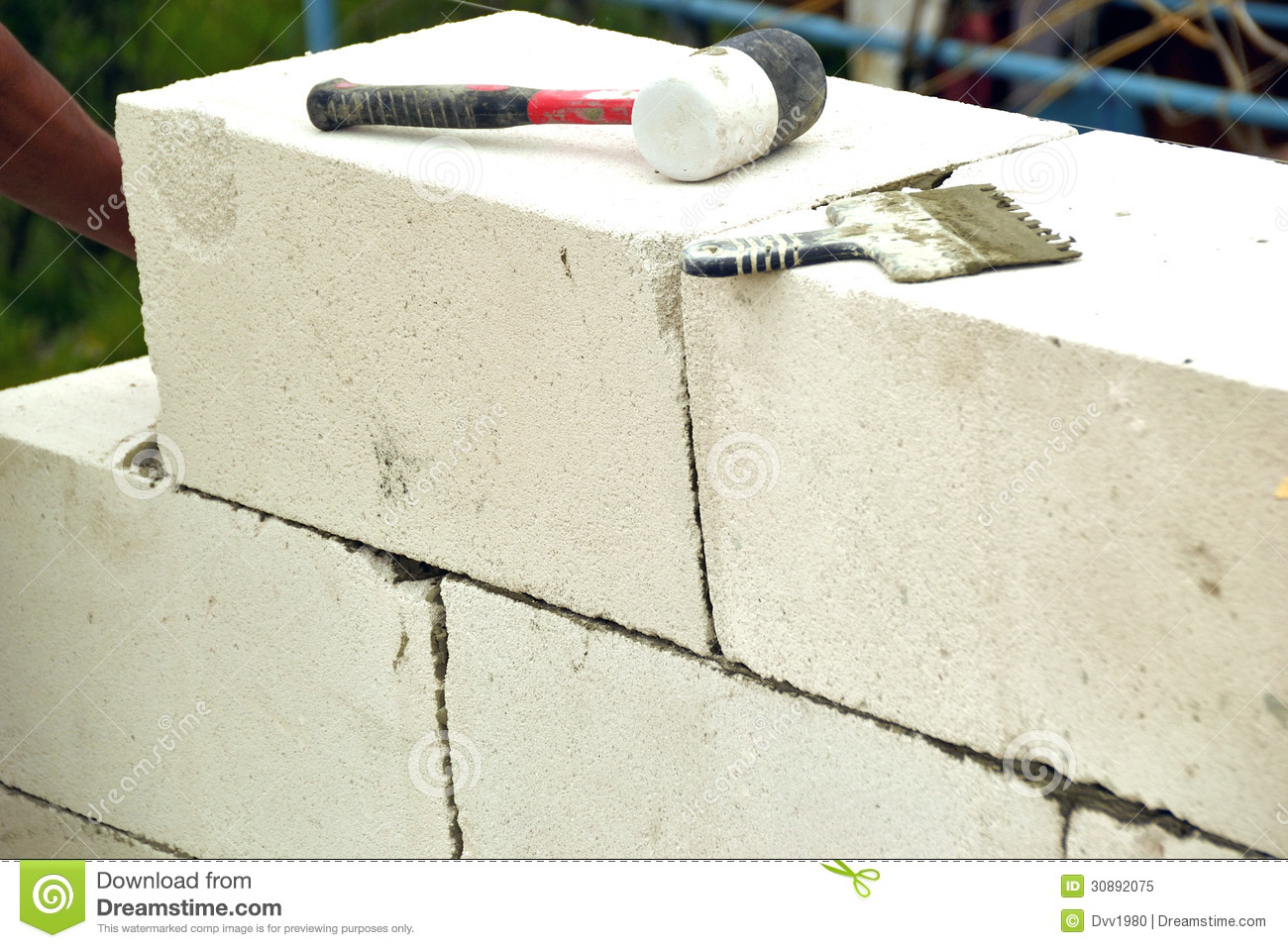 Masonry Walls Of Aerated Concrete Royalty Free Stock Photo - Image ...