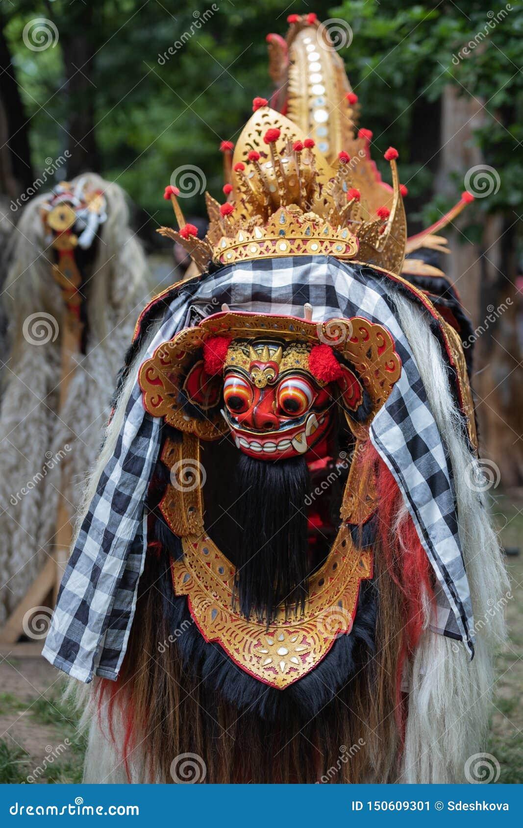 Masque coloré de Barong de Bali Indonésie