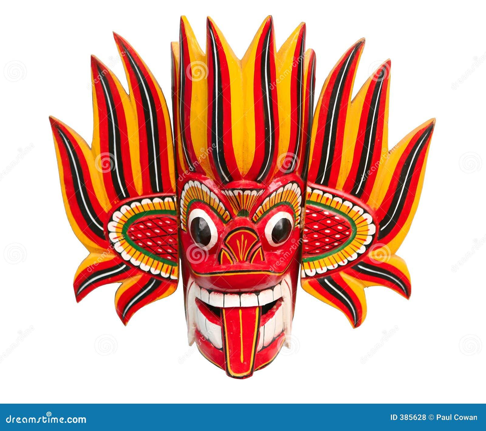 The Devil S Music De Maskers: Masque De Diable D'incendie Illustration Stock