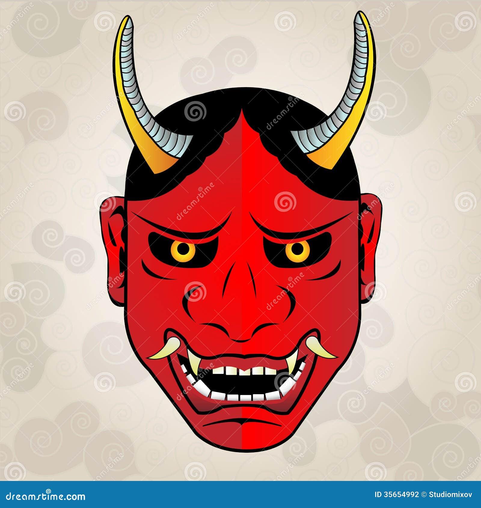 masque de hannya tatouage de japonais photographie stock image 35654992. Black Bedroom Furniture Sets. Home Design Ideas