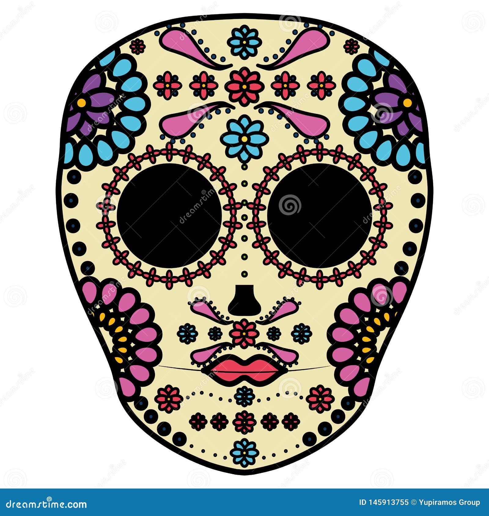 Masque de mort mexicain de cr?ne