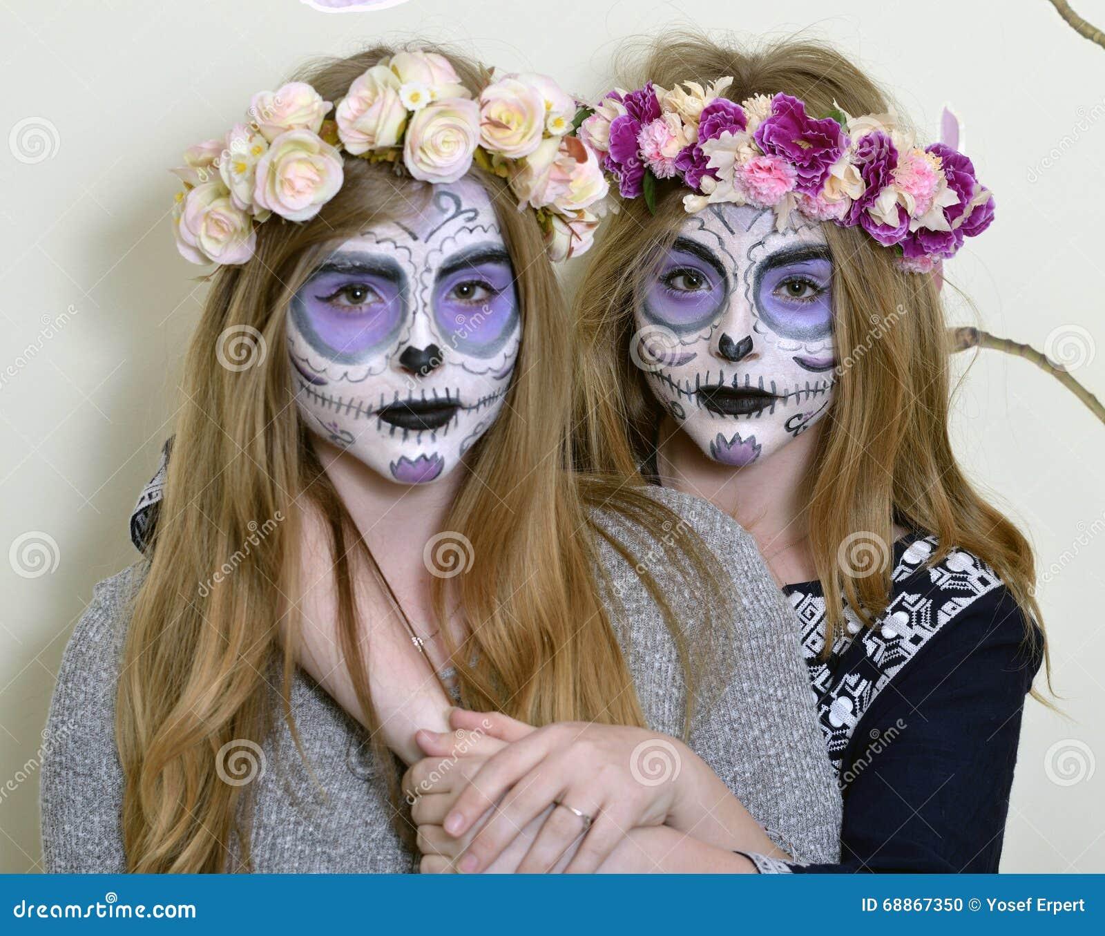 masque de mort mexicain de maquillage photo stock image 68867350. Black Bedroom Furniture Sets. Home Design Ideas