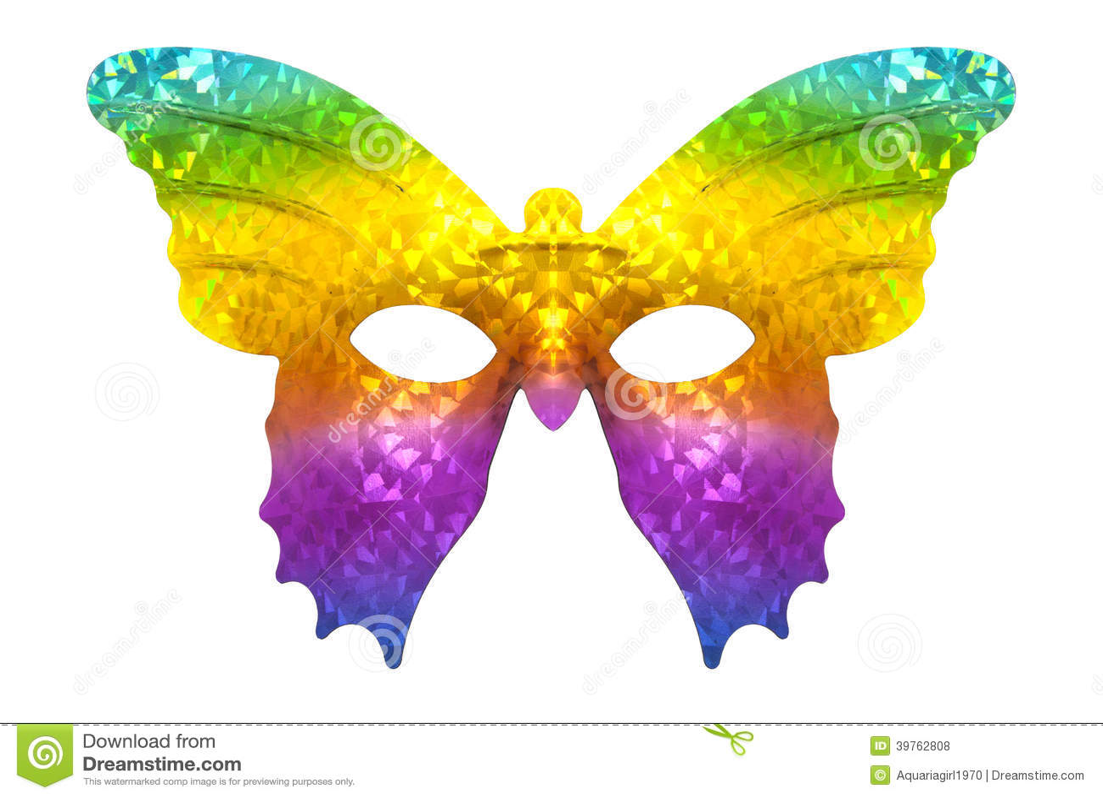 Masque de papillon d 39 arc en ciel photo stock image du th tre en 39762808 - Masque papillon carnaval ...