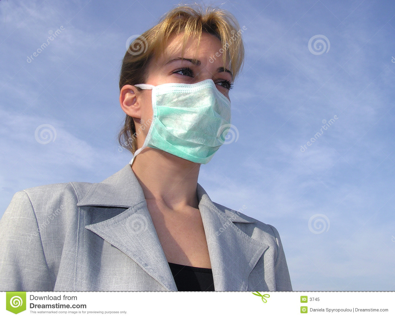 Download Masque médical image stock. Image du malade, cheveu, protection - 3745