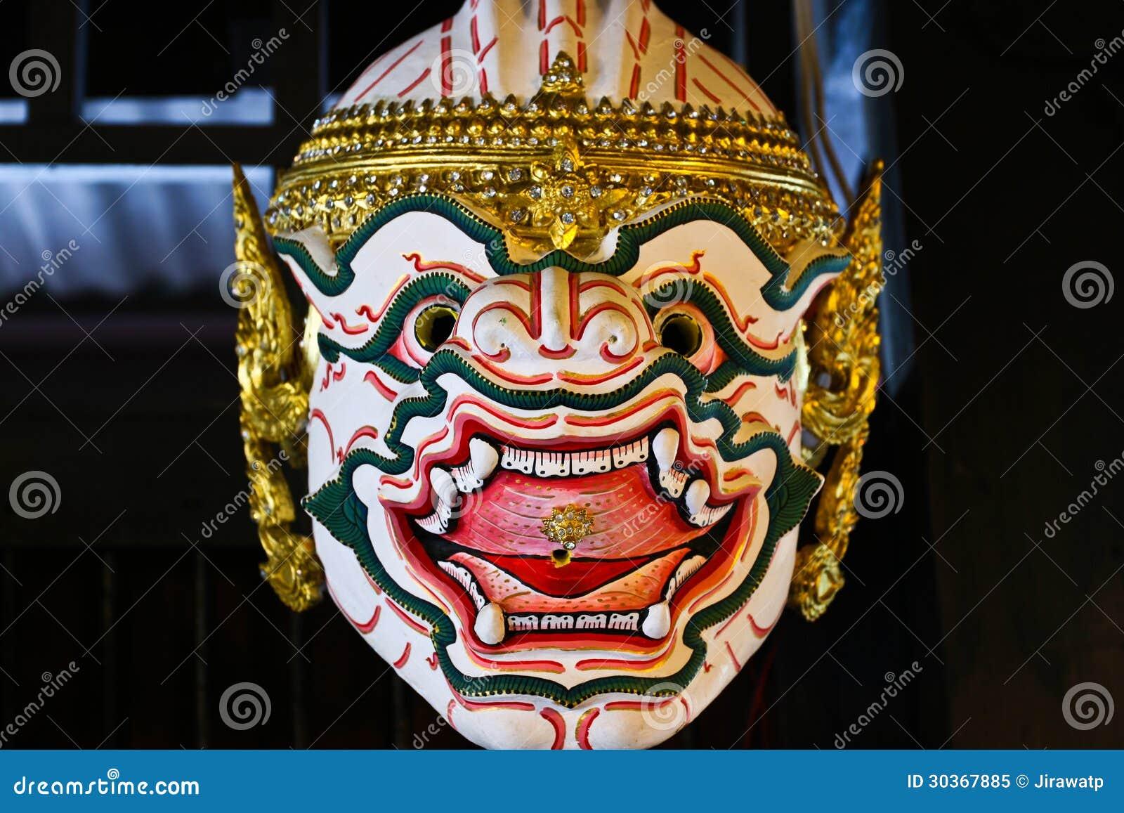 prix bas chaussures pour pas cher styles divers Masque Thaïlandais De Khon De Singe Image stock - Image du ...