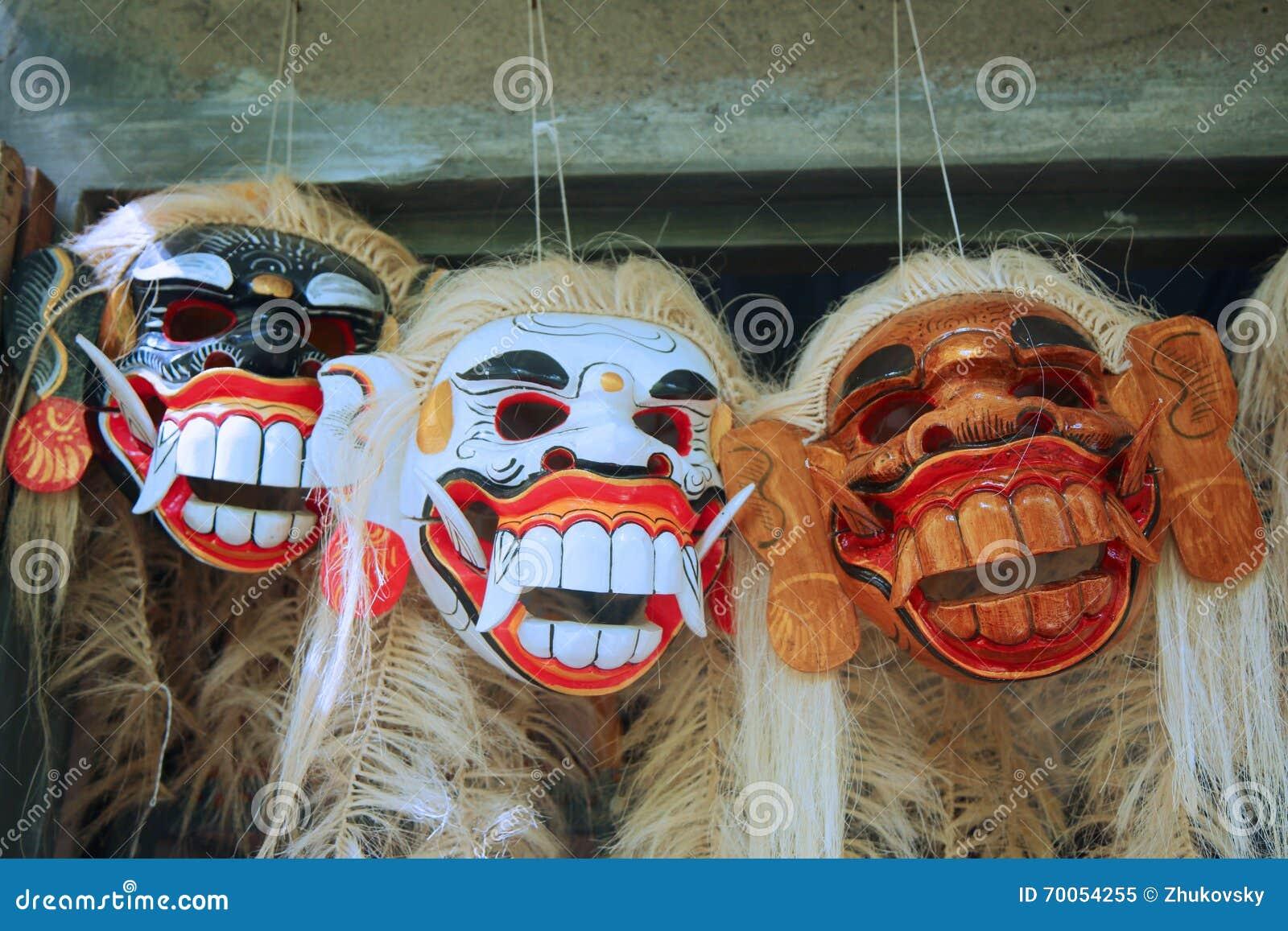 Masque traditionnel de danse de Balinese