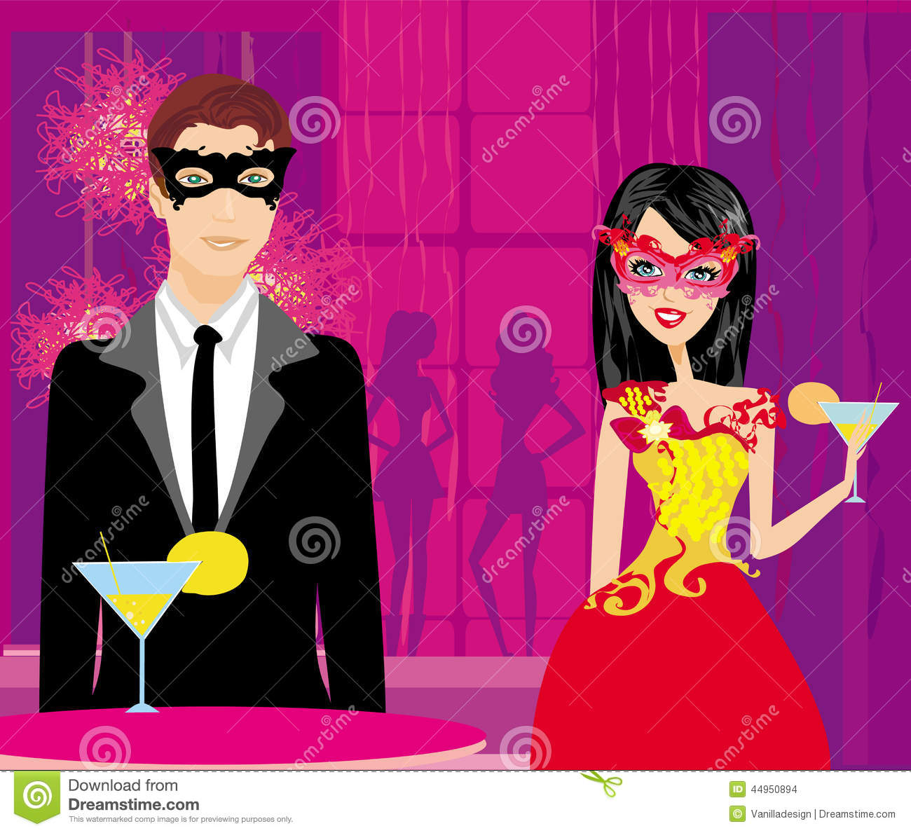 Masquerade Ball Stock Vector - Image: 44950894