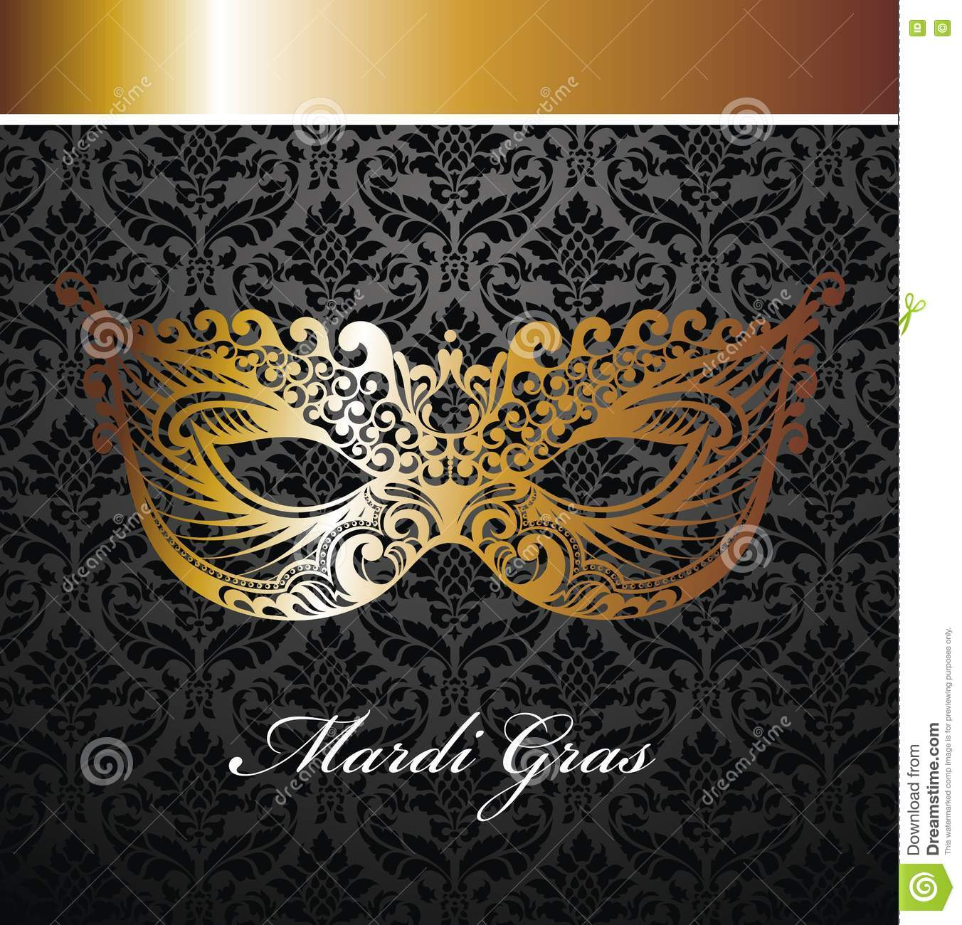 Masquerade Ball Poster Stock Vector Illustration Of Luxury
