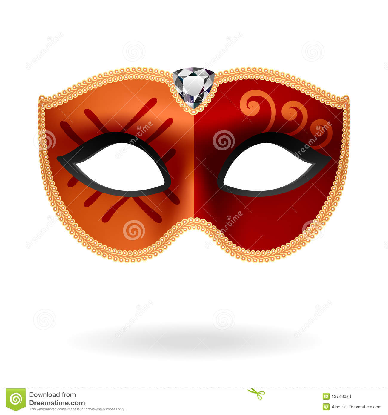 Masquerade Masks Clip Art Red masquerade mask stock images - image ...