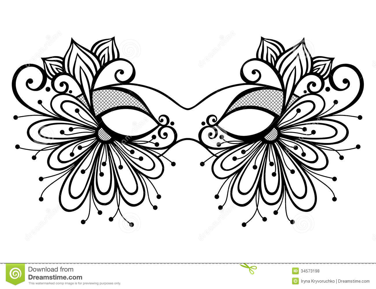 Masquerade Mask stock vector. Illustration of objects - 34573198