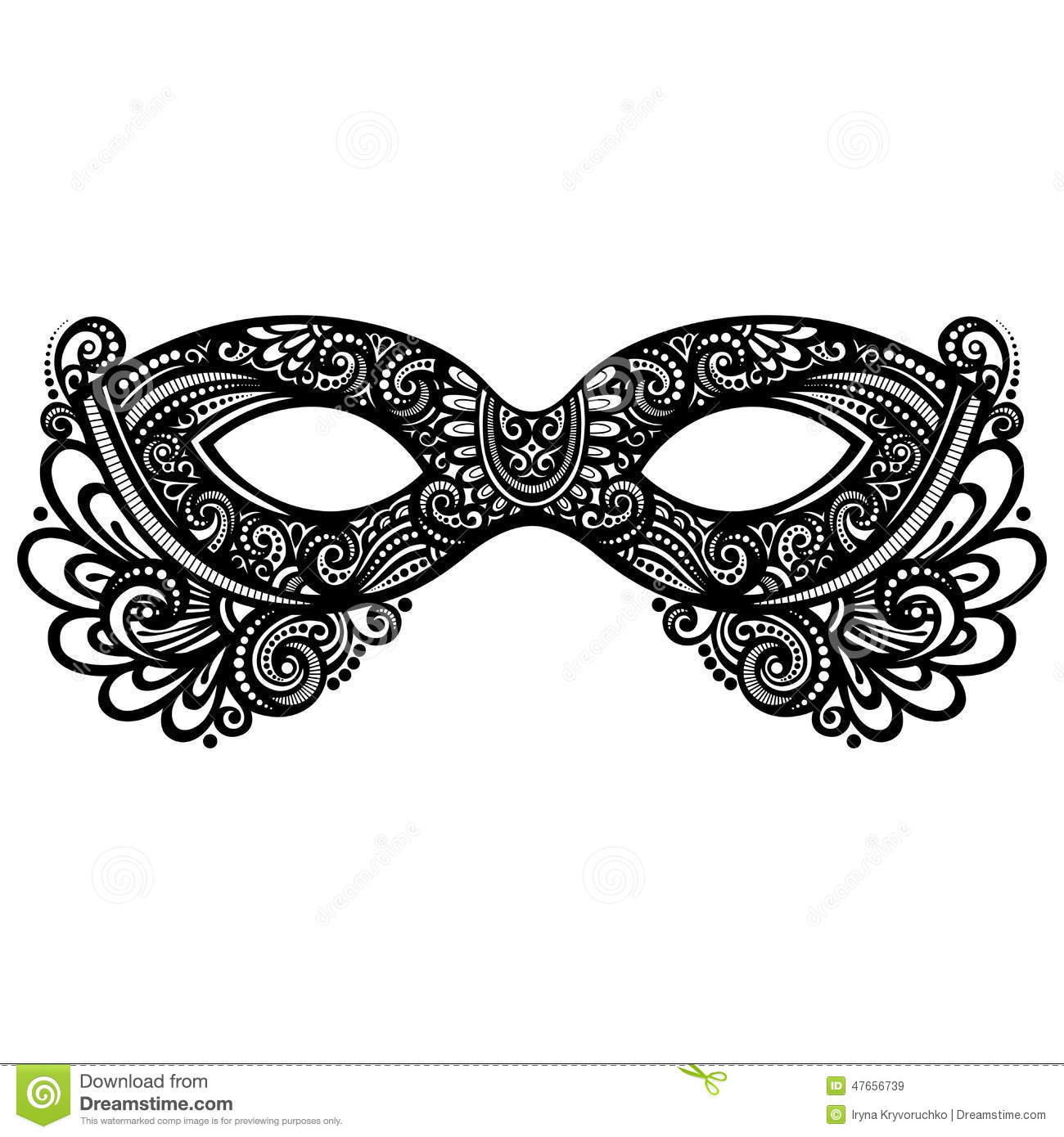 Funky Masquerade Mask Template Free Motif - Resume Template Samples ...