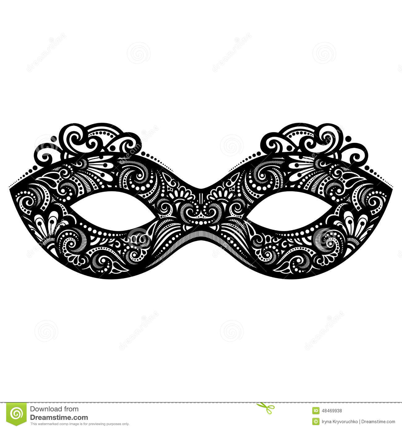 Venetian Mask Template Printable. Clothing Stock Illustrations and ...