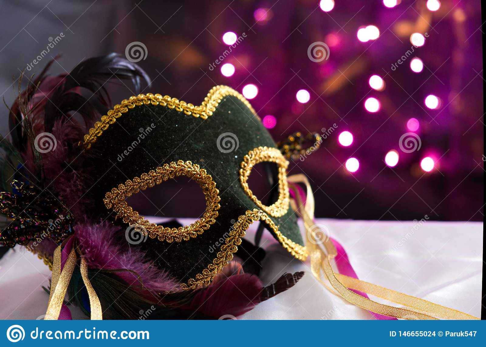 Masquerade Mask With Bokeh Background
