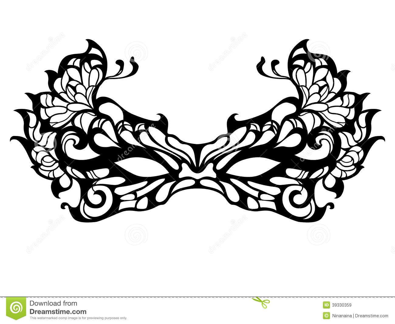 Black And White Masquerade Mask Clip Art for Pinterest