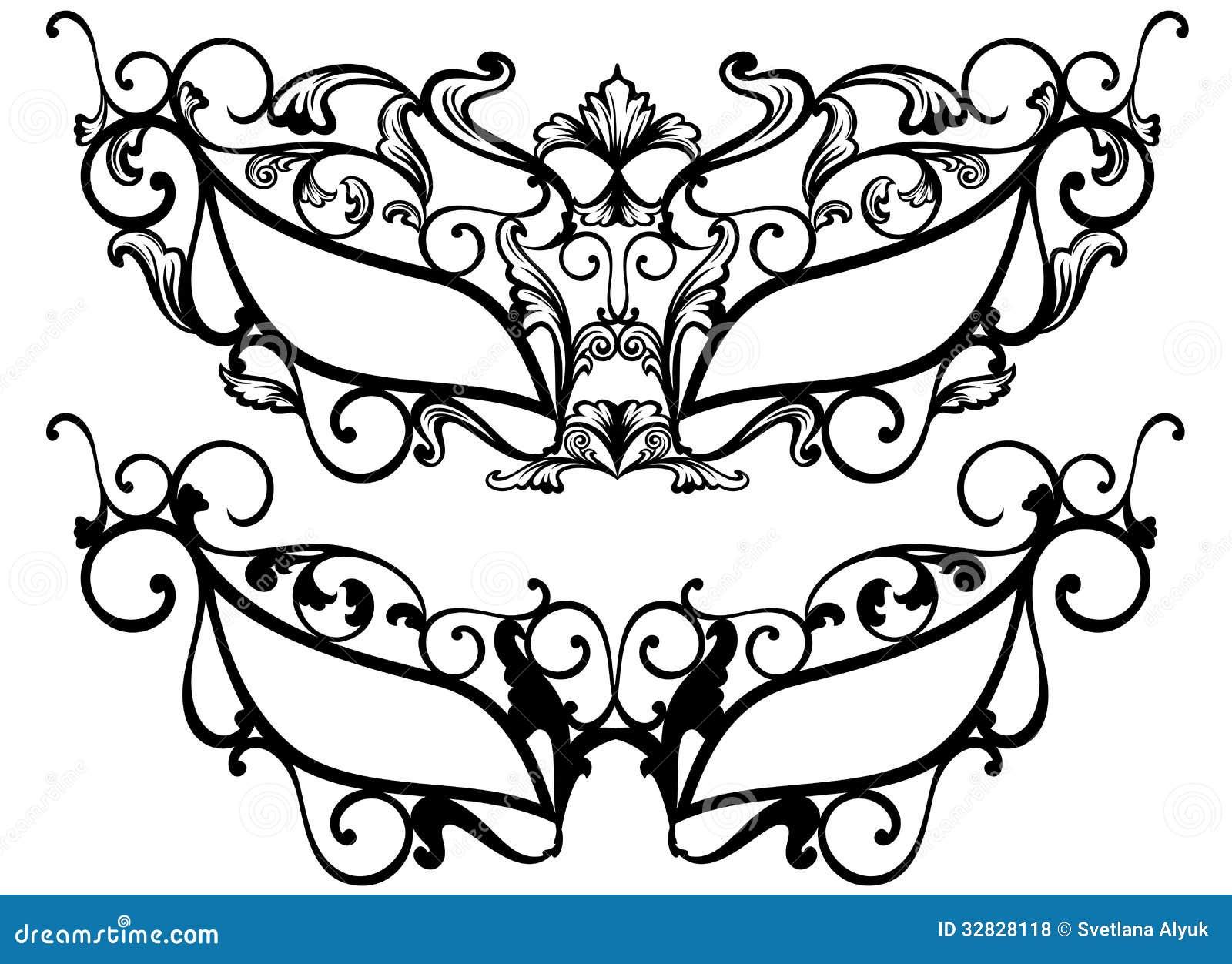 Masquerade Masks Vector Illustration 32828118