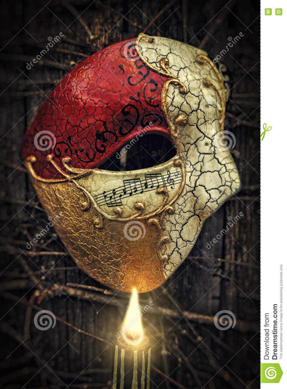 Masquerade - Phantom Of The Opera Mask Stock Photo - Image of