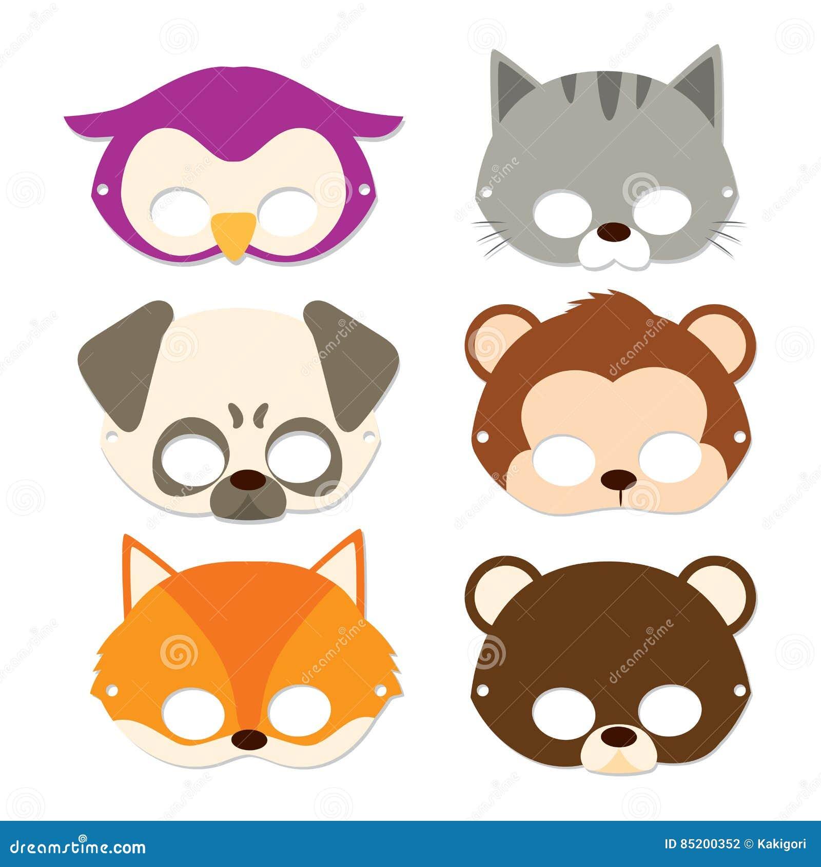 De D'animal Masques Carnaval Illustration Vecteur O8Pkwn0X