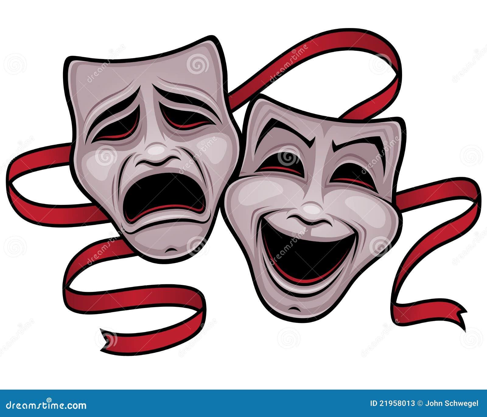 Masques de théâtre de comédie et de tragédie
