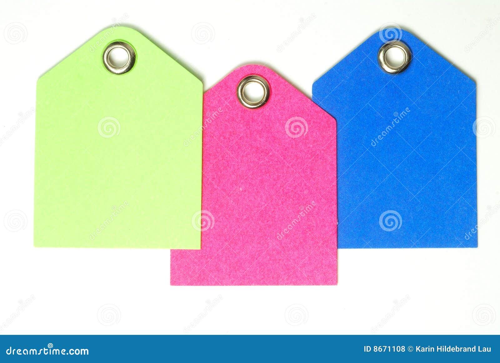 Masquez les étiquettes de papier coloré