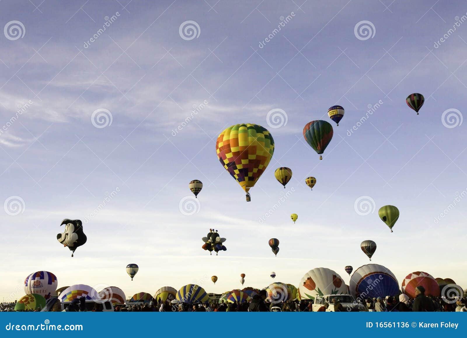 Massa Ascention bij de Fiesta van de Ballon van Albuquerque