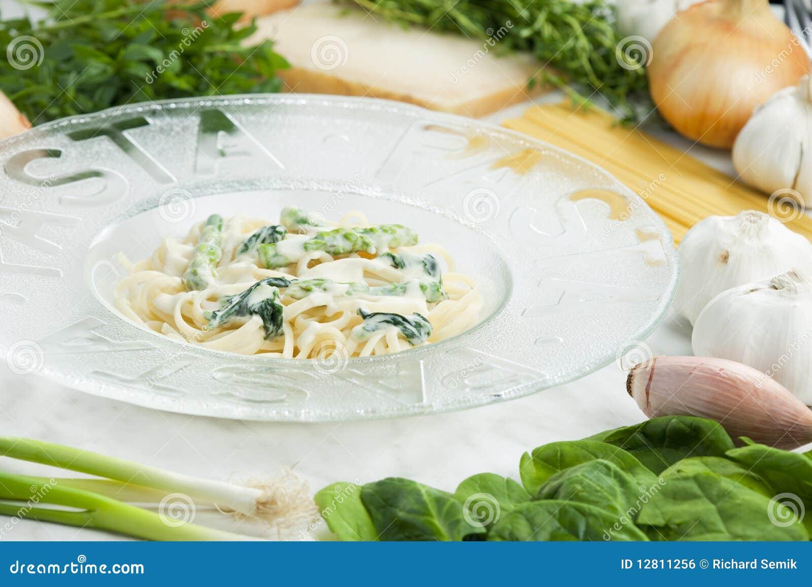 Massa com espinafre