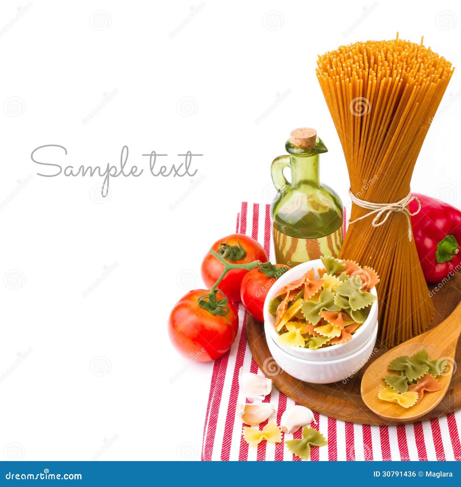 Massa italiana com vegetais