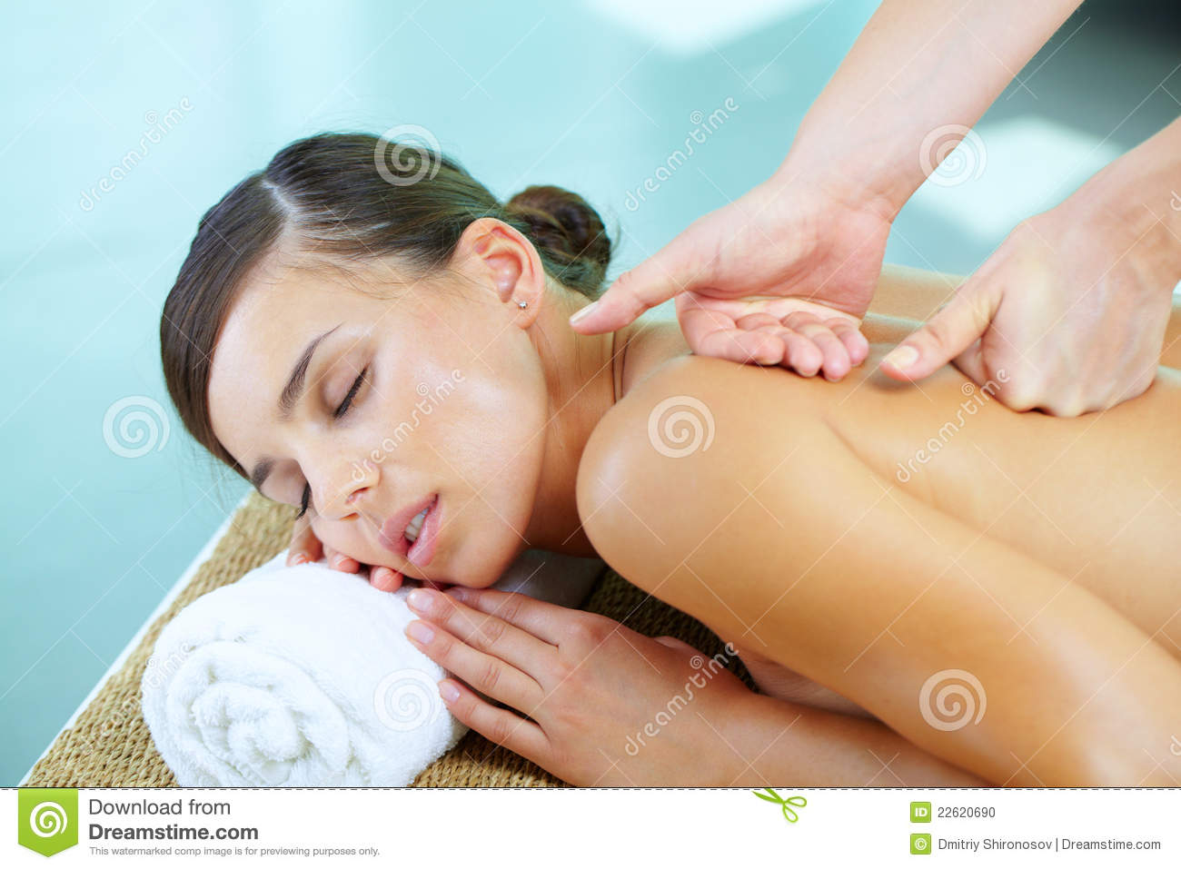 During massage