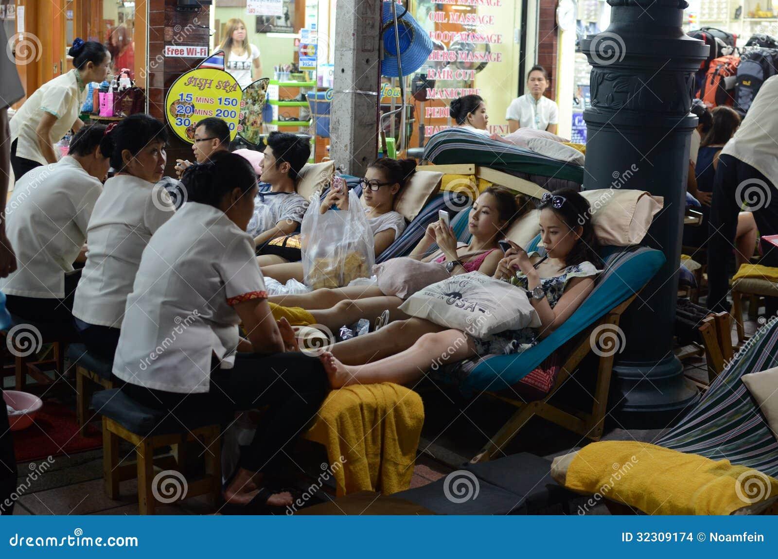 Massage auf Straßen von Bangkok