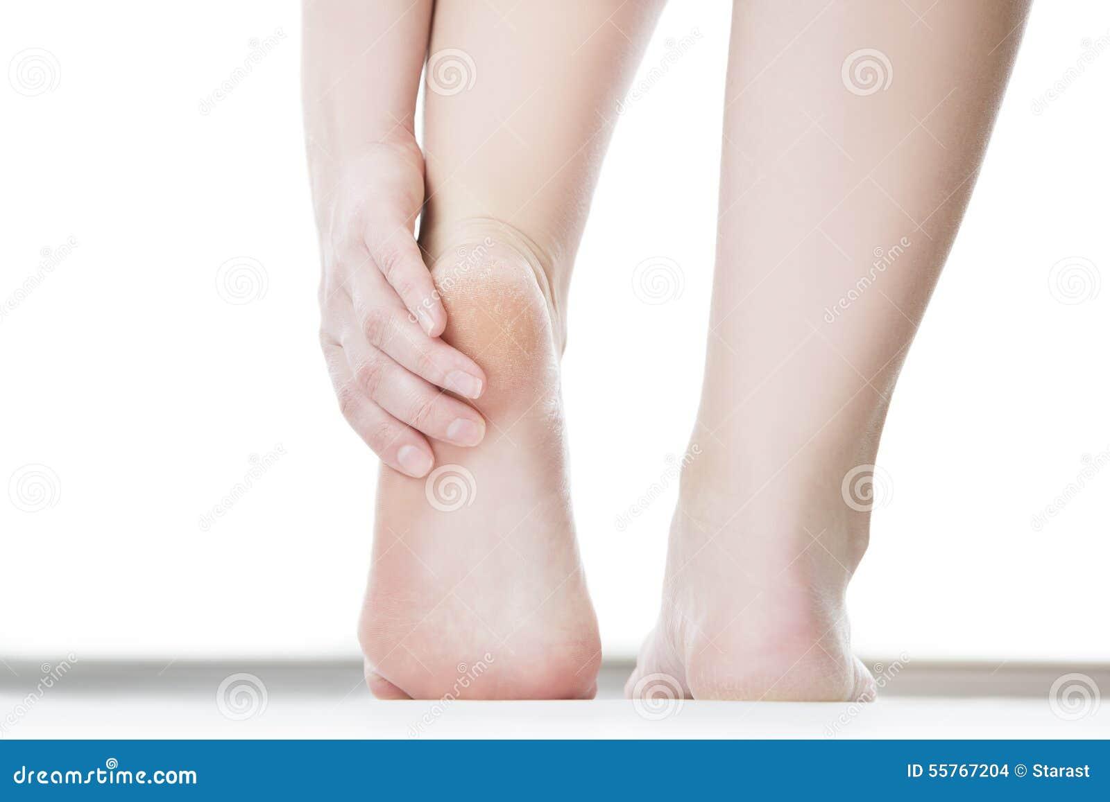 Massage av den kvinnliga foten