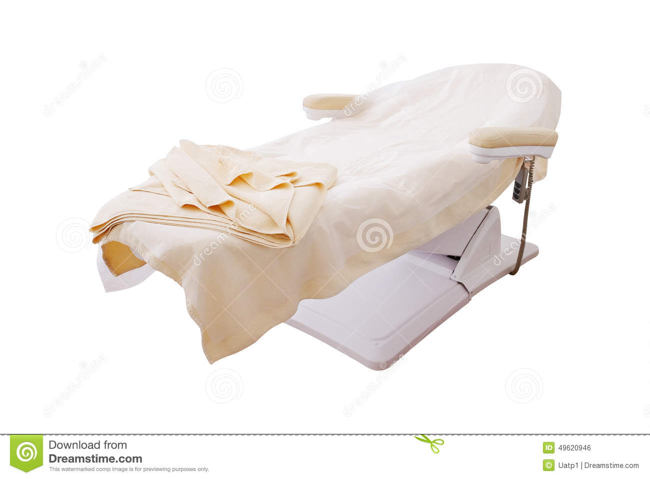 Massage bed stock photo image 49620946 for Beauty salon bed