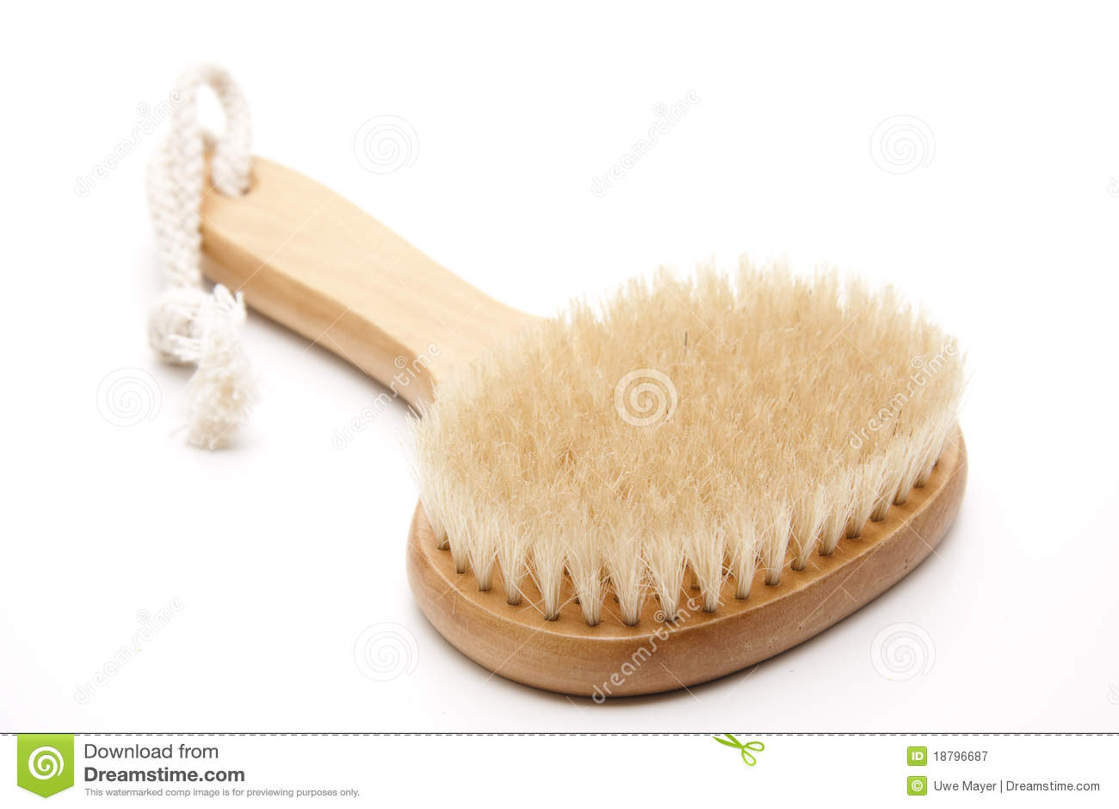Massage brush with bristles