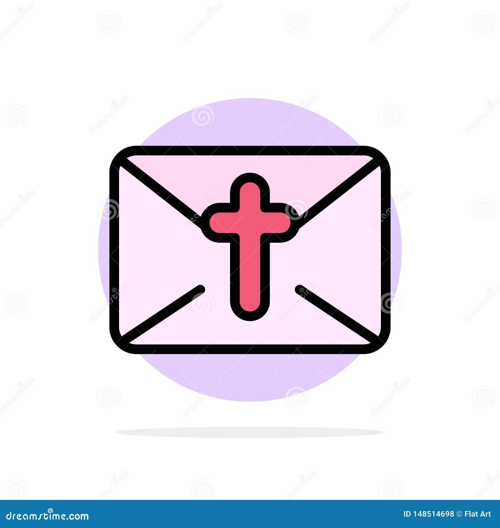 Massage, courrier, vacances, icône plate de couleur de fond abstrait de cercle de Pâques