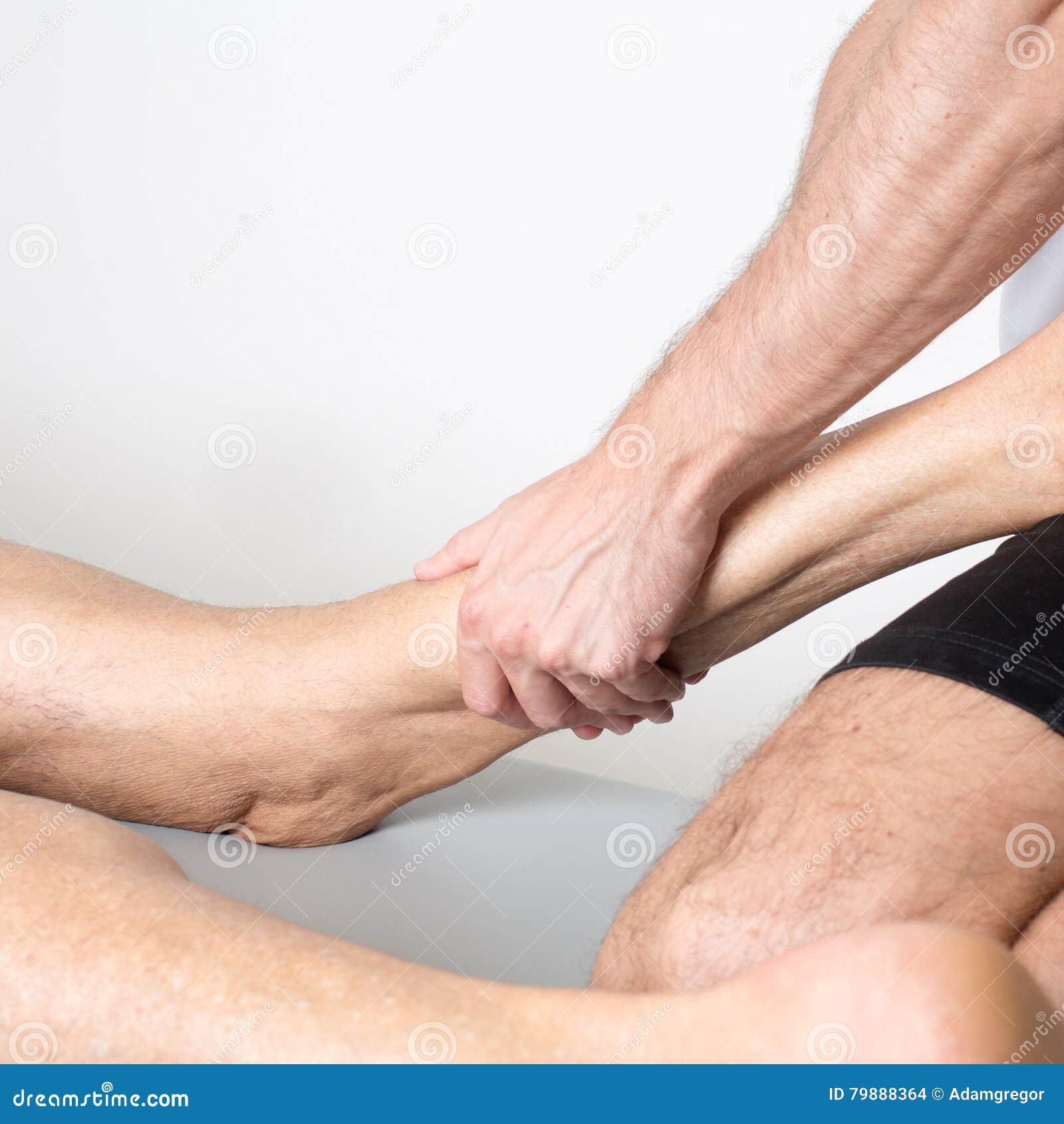 Massage de la jambe