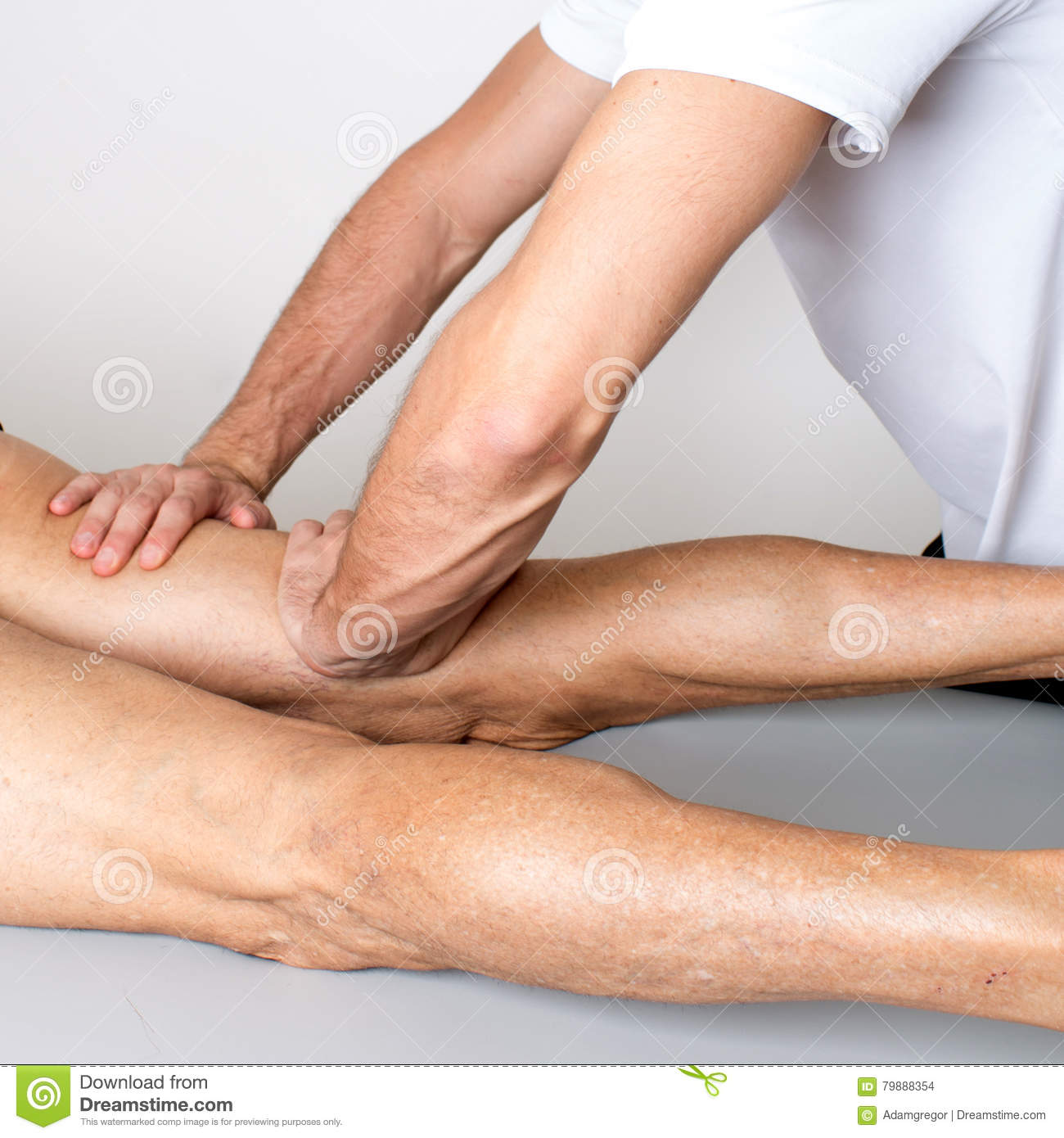Massage des Beines