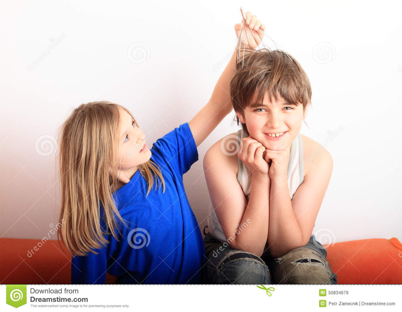 Girl Massage With Boy