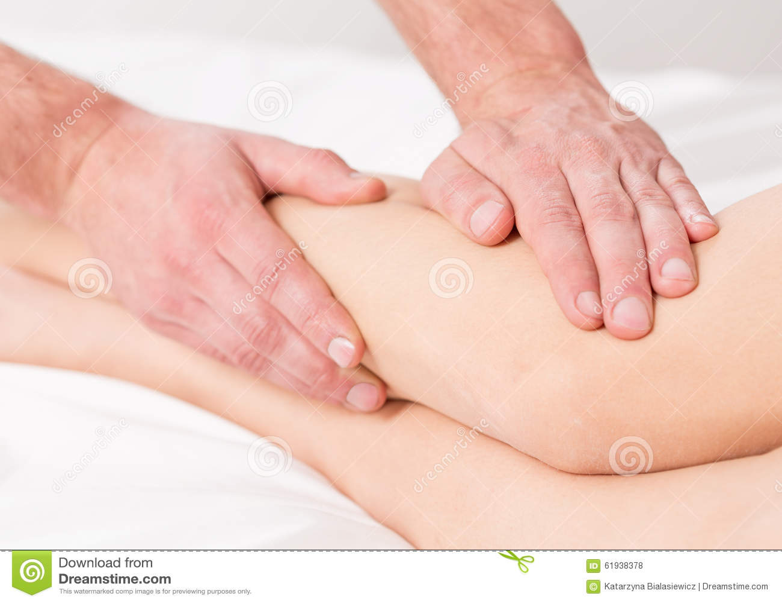 Manual Medical Massage Technique Stock Photo