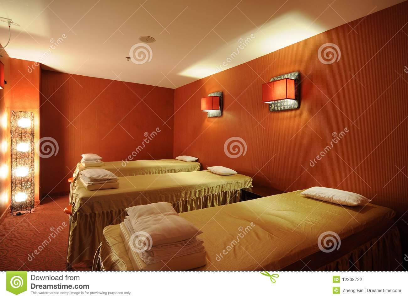Massage Room Stock Photo Image Of Artwork Flooring 12338722