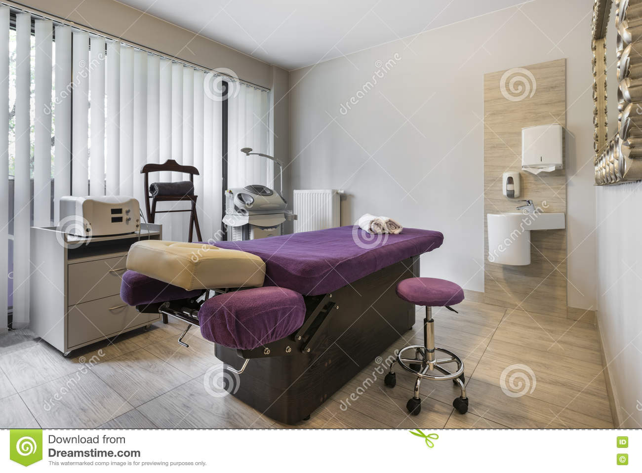 Massage Room Interior In Wellness Center Stock Image