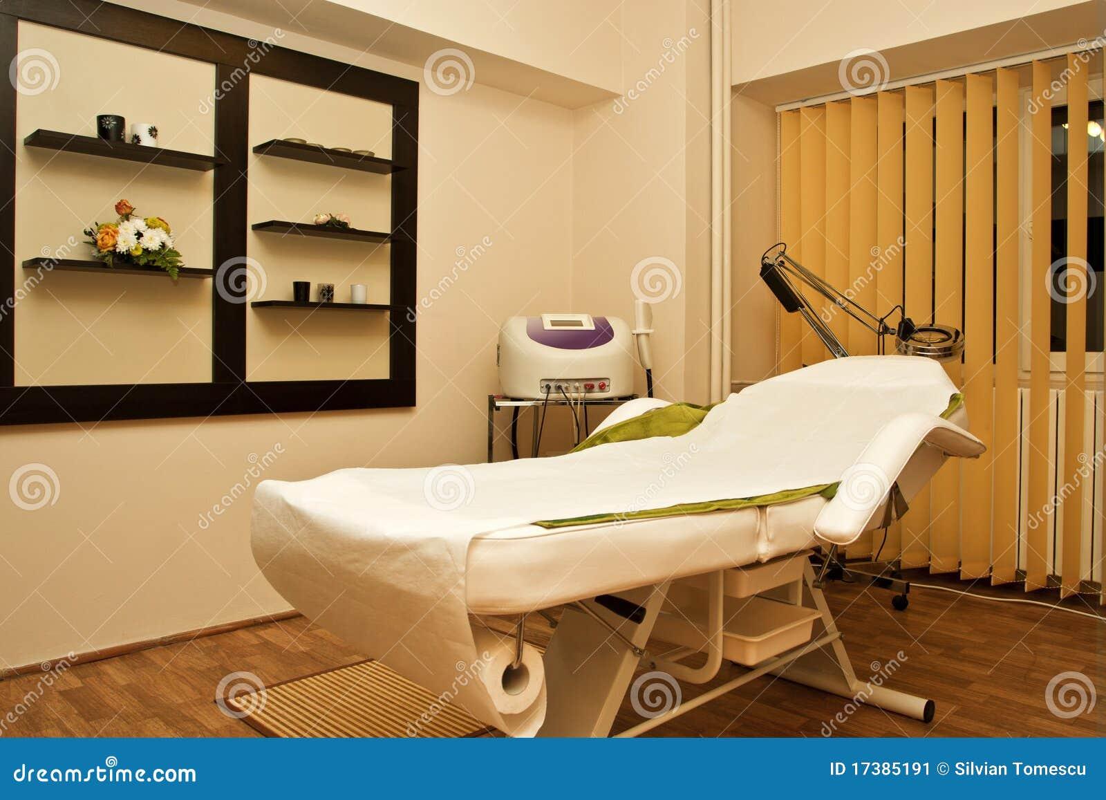 Massage room in spa salon