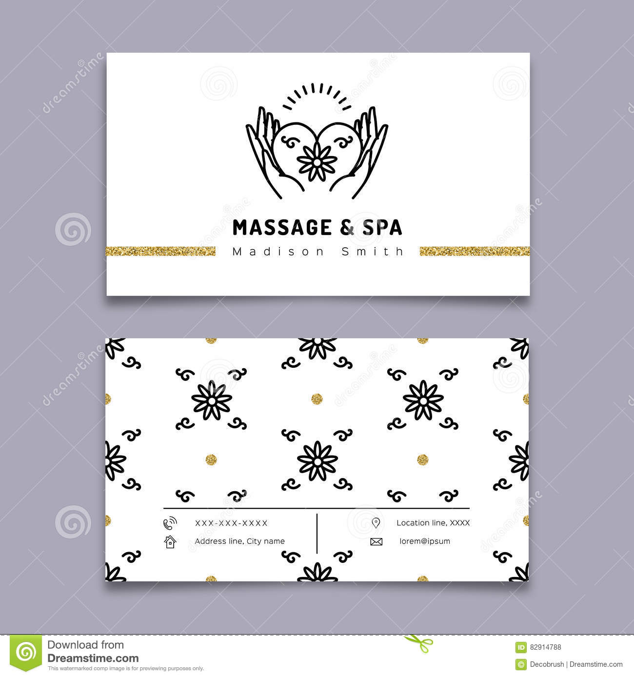 Massage and spa therapy business card template trendy line icon massage and spa therapy business card template trendy line icon cheaphphosting