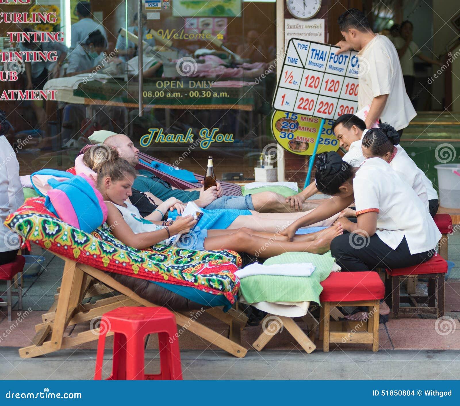 Massage thaï de pied
